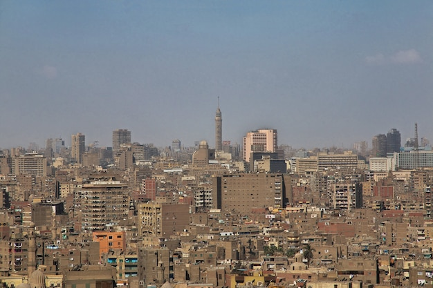 The view on cairo center egypt