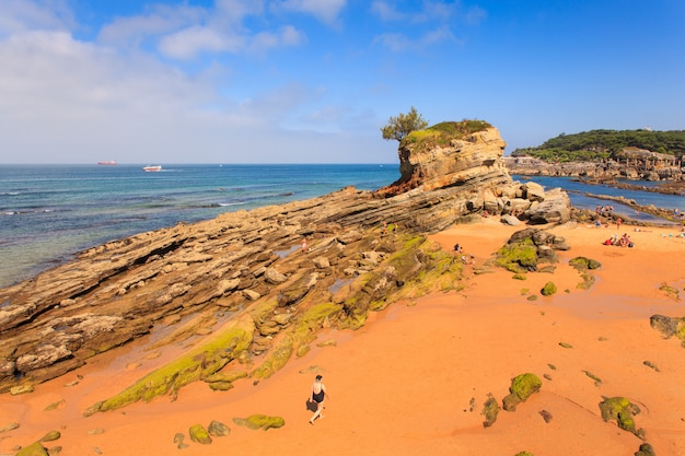 View of camel beach in santander