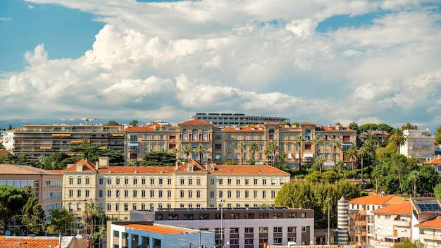 View of cannes france multiple buildings made in traditional style