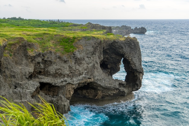 View of cape manzamo, okinawa, japan