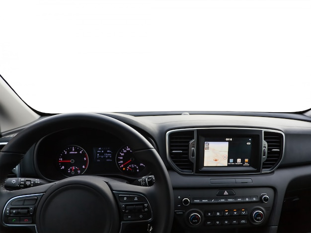 View of a car dashboard