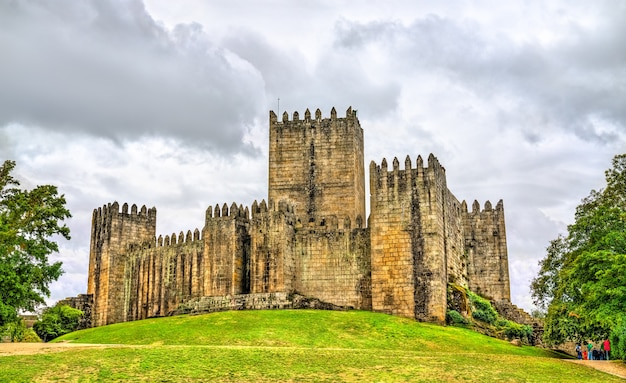 View of the castle of guimaraes in the northern region of portugal