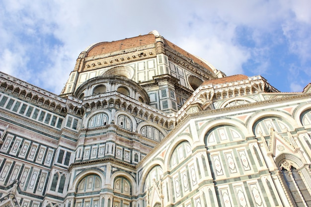 View of cathedral santa maria del fiore in florence, italy