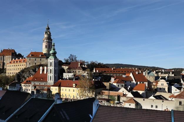 View Of Cesky Krumlov In Czech Repubilc