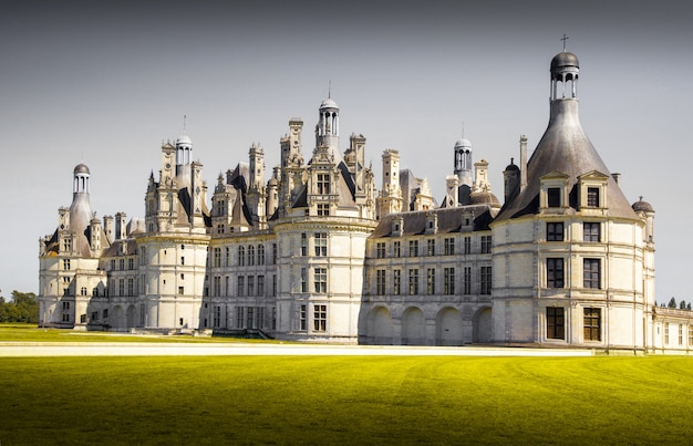 View of chambord castle