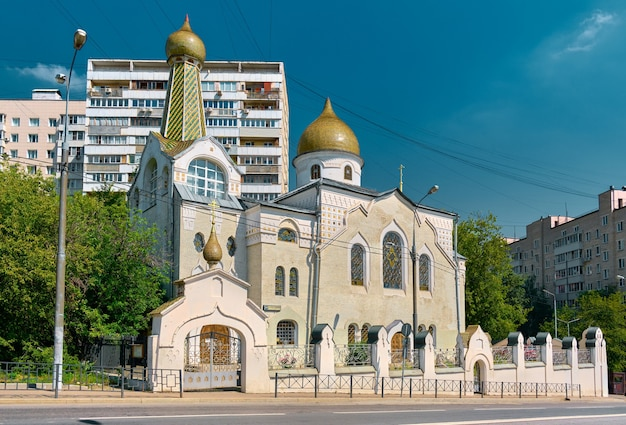 View of the church of the intercession of the holy virgin of the old believer community, 1909-1911, landmark