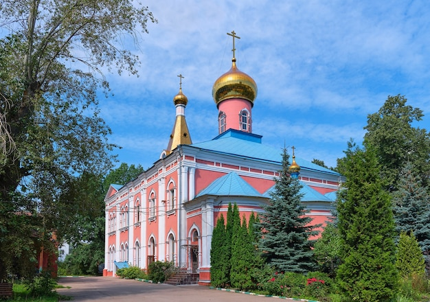View of the church of the resurrection located in district sokolinaya gora, 1855 year of construction, landmark