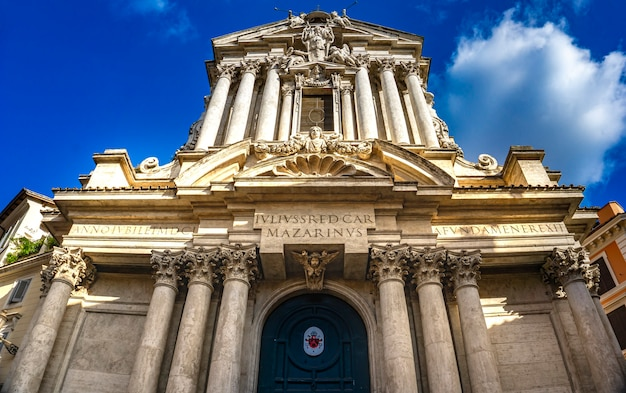 View at church saints vincent and anastasius in rome, italy