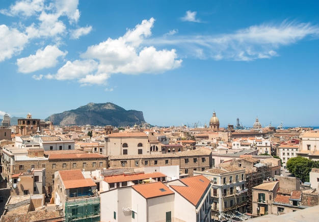 View of the city from above. palermo, sicily