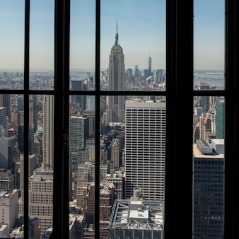 View of the city from top of the rock observation deck, midtown manhattan, new york city, new york s