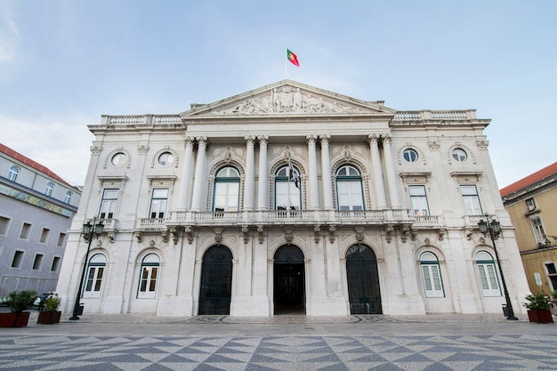 View of the city hall building located in lisbon, portugal.