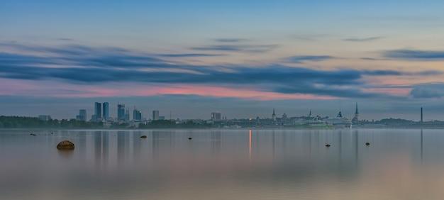 View to city tallinn estonia