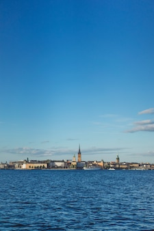 View of the cityscape. landscapes of stockholm, sweden.