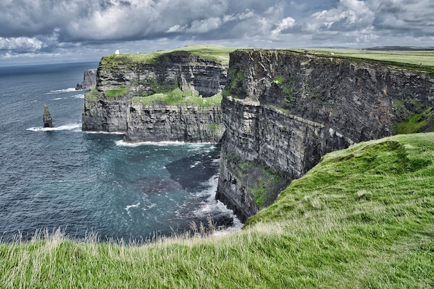 View of the cliffs of moher.