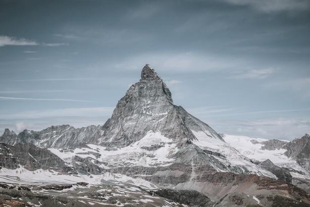 국립 공원 체르마트에서 근접 촬영 보기 마터호른 산 풍경