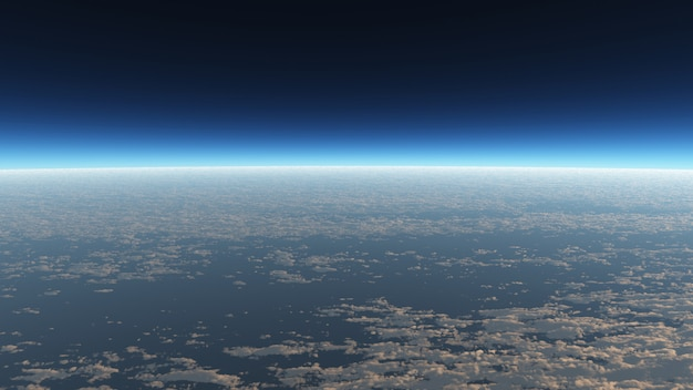 View on the cloud wallpaper in landscape and space scene.