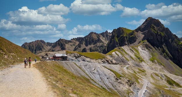 View of col du tourmalet in the french pyrenees mountains