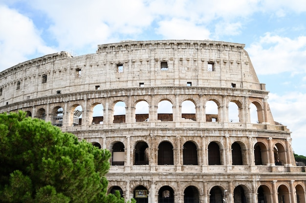 View of the colosseum, outside. italy, rome