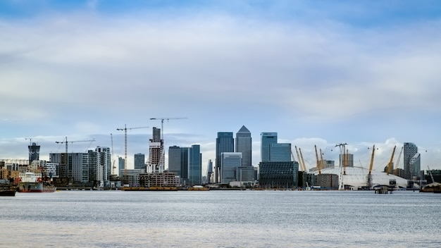 View of contemporary buildings in docklands