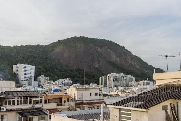 View of the copacabana neighborhood in rio de janeiro brazil.