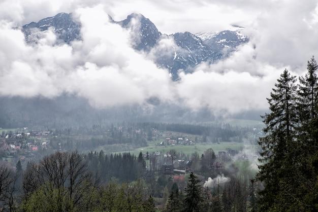A view of the dal of the village of zakopane on the tatra mountains, zakopane, poland