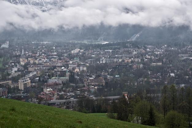A view of the dal of the village of zakopane on tatra mountains, zakopane, poland