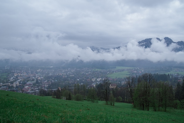 A view of the dal of the village of zakopane