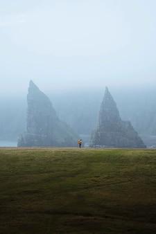 Duncansby海堆看法在苏格兰