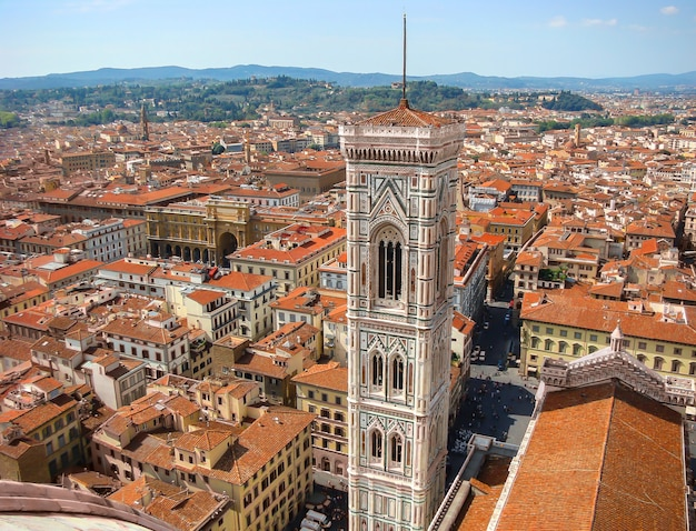 View of duomo at historic center of florence