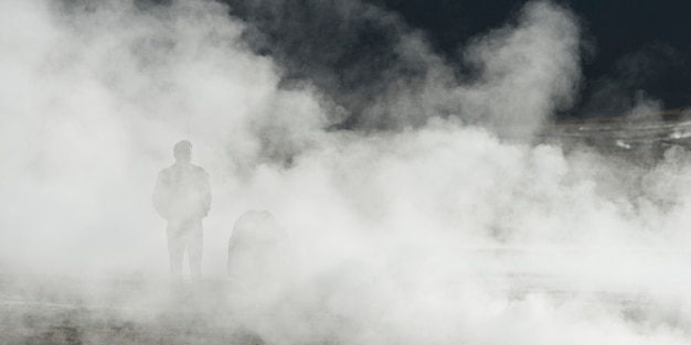 View of el tatio geyser, san pedro de atacama, el loa province, antofagasta region, chile