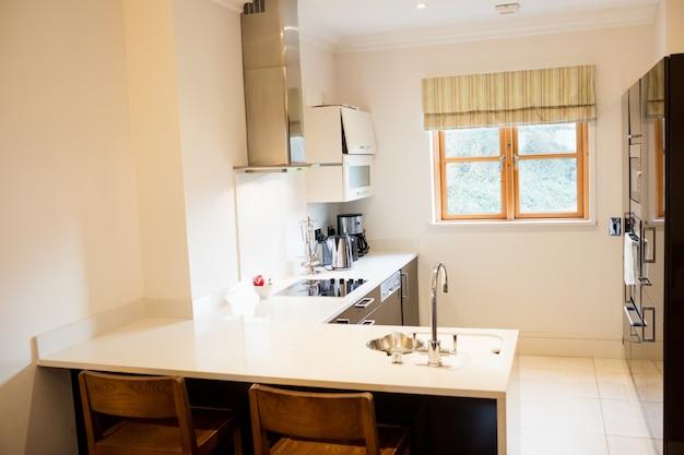View of empty kitchen