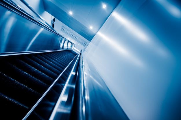 View of escalator in an underground station