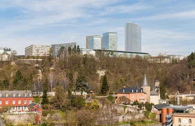 View of european institutions buildings