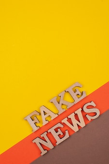 Above view false news concept with copy-space
