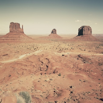 View of famous landscape of monument valley, utah, usa.