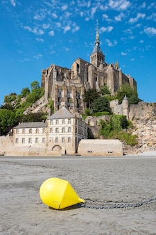 View of famous mont-saint-michel and buoy, france, europe.