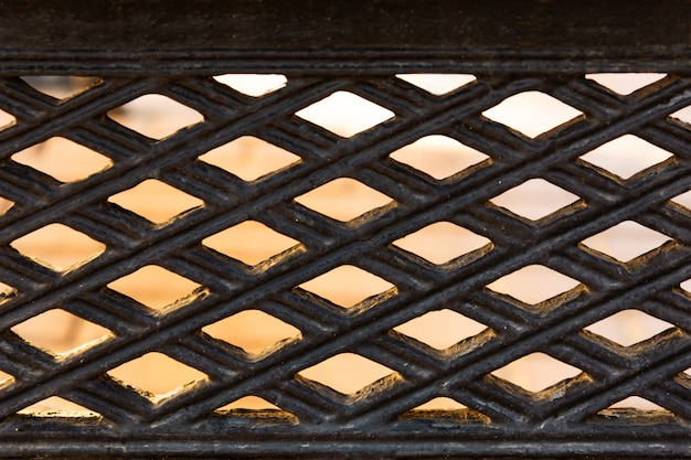 View of freedom through the wrought iron grille.