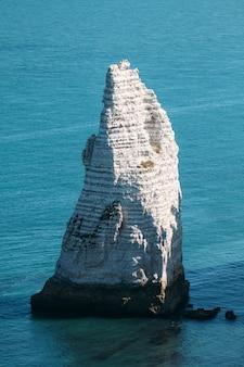 에트 르타, 프랑스의 베이와 설화 석고 절벽 베이 위에서보기