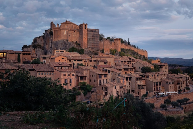 View from alquezar one of the most beautiful towns of the country at huesca province, aragon, spain.