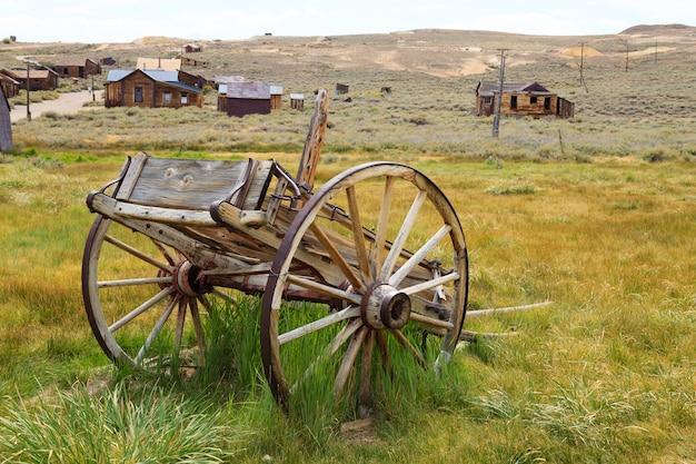Bodie ghost town, 캘리포니아 미국에서 봅니다. 오래 된 버려진 광산