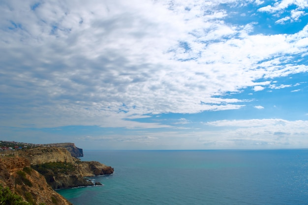 View from cape fiolent sea, ukraine crimea