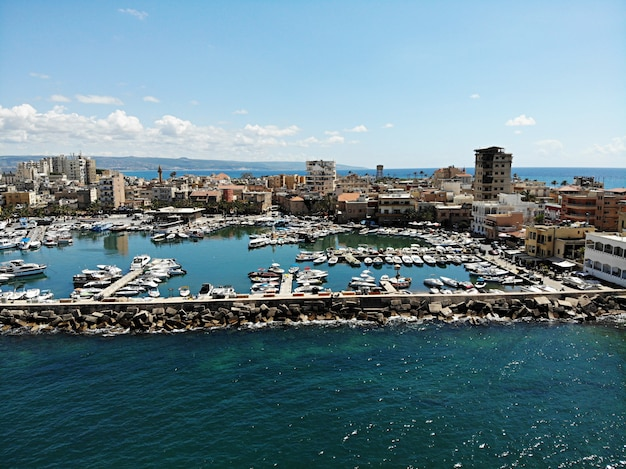 View from above on cityscape of beirut in lebanon