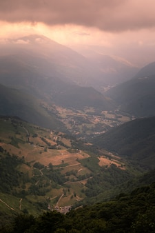 View from the col d'aspin at high pyrenes, france.