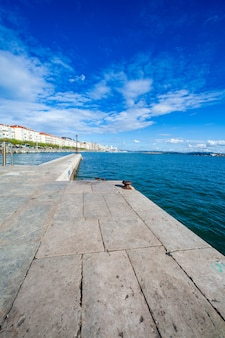 View from the dike of the bay of santander (cantabria, spain).