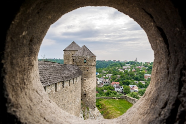 View from the embrasure of a tower at kamyanets-podilsky fortress