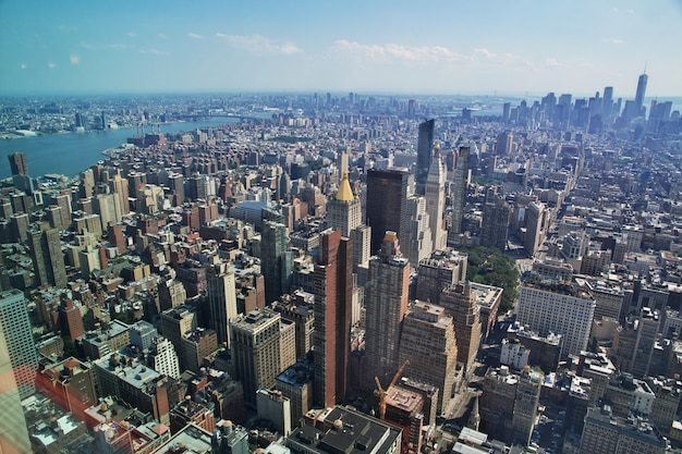 The view from empire state building in new york, united states