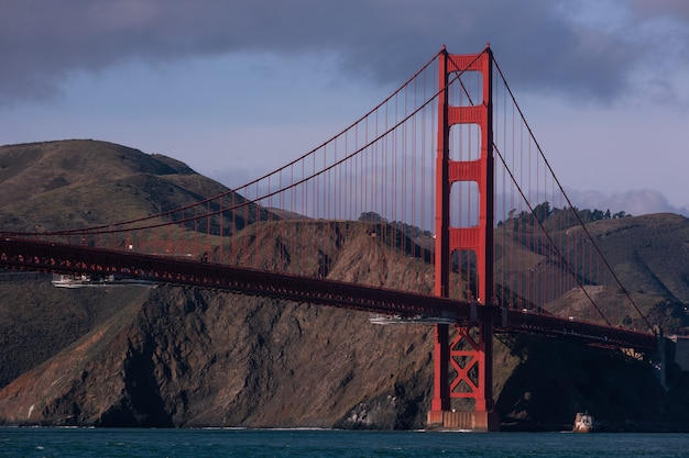 View from the golden gate bridge in san francisco, california