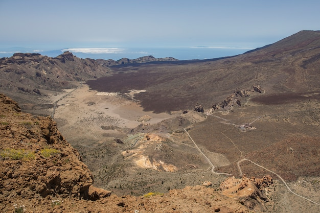 View from the guajara of the canadas del teide.