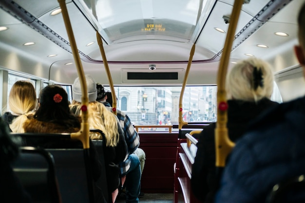 View from inside an urban bus