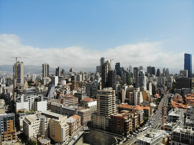 View from above on the lebanon.  beirut - big and beautiful capital.
